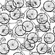 Bicycles. Seamless Pattern