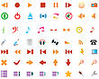 Big Collection Of Different Icons For Using In Web Design stock vector