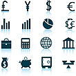Big Collection Of Financial Icons For Using In Web Design