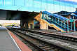 Big Railways Stations With Trains stock image