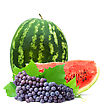 Big Red Watermelon stock photo