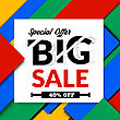 Big Sale Illustration. Vector Illustration. Material Design