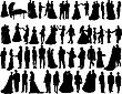 Big Vector Collection Of Wedding Silhouettes