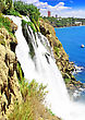 "Big Waterfall "" Duden "" In Turkey,Antalya stock image"