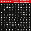 Biggest Collection Of 120 Different Icons For Using In Web Design stock illustration