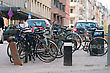 Bike Parking On The Street In Stockholm stock photo