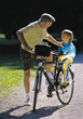 Bike Riding with Grandpa stock photography