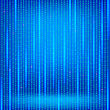 Binary Code Blue Background. Concept Binary Code Numbers. Algorithm Binary, Data Code, Decryption And Encoding