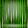 Binary Code Green Background. Concept Binary Code Numbers. Algorithm Binary, Data Code, Decryption And Encoding