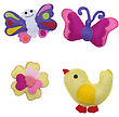 Bird, Butterflies And Flower - Kids Toys stock photo