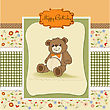 Birthday Card With A Teddy Bear