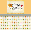 Birthday Greeting Card Template stock vector