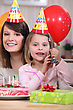 Smiling Birthday Party stock image