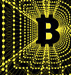 Bitcoin - Electronic Form Of Money And Innovative Payment Network. Vector Illustration