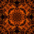 Black Background With Bright Abstract Fire Pattern