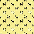 Black Cats Seamless Pattern. Animal Pets Silhouettes Background