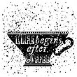 Black Coffee Cup Covered With Hand Drawing Quote On The Theme Of Coffee. Typography Design On Grunge Particles Background