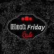 Black Friday Sticker Isolated On Dark Grunge Background. Big Winter Sale