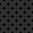 Black Ornamental Seamless Line Pattern. Endless Texture. Oriental Geometric Ornament