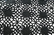 Black Ornate Knitwear As A Background. stock photo