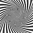 Black Twisted Lines On White With Tunnel Effect. Vector Illustration, EPS8