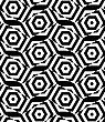 Black And White Alternating Rectangles Cut Through Hexagons.Seamless Stylish Geometric Background. Modern Abstract Pattern. Flat Monochrome Design
