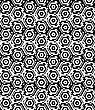 Black And White Alternating Small Squares Cut Through Hexagons.Seamless Stylish Geometric Background. Modern Abstract Pattern. Flat Monochrome Design