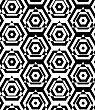 Black And White Alternating Triangles Cut Through Hexagons.Seamless Stylish Geometric Background. Modern Abstract Pattern. Flat Monochrome Design