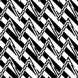 Black And White Alternating Zigzag With Diagonal Cut.Seamless Stylish Geometric Background. Modern Abstract Pattern. Flat Monochrome Design