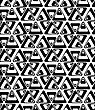 Black And White Rotated Triangles.Seamless Stylish Geometric Background. Modern Abstract Pattern. Flat Monochrome Design