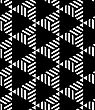 Black And White Striped And Black Triangles.Seamless Stylish Geometric Background. Modern Abstract Pattern. Flat Monochrome Design