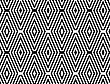 Black And White Striped Diamonds In Rows.Black And White Striped Diamonds.Seamless Stylish Geometric Background. Modern Abstract Pattern. Flat Monochrome Design