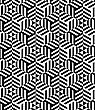 Black And White Striped Triangles.Seamless Stylish Geometric Background. Modern Abstract Pattern. Flat Monochrome Design