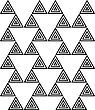 Black And White Triangles Forming Triangles.Seamless Stylish Geometric Background. Modern Abstract Pattern. Flat Monochrome Design