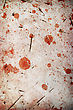 Paper Blood Spots On Cracked Background stock photo
