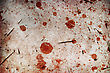 Blood Spots On Cracked Background stock image