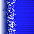 Blue Christmas Background With A Band Decorated With Snowflakes