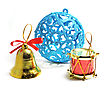 Blue Christmas Ball Bell With Drums And Bells
