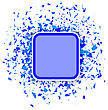 Blue Confetti Banner Isolated On White Background. Set Of Particles