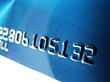 Plastic Backgrounds Blue Credit Card stock photo