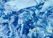 Blue Crystals Background stock photo