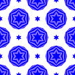 Blue David Star Seamless Background. Jewish Symbol Of Religion stock vector