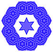 Blue David Star Isolated On White Background. Jewish Symbol Of Religion stock illustration