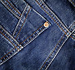 Blue Denim Jeans Texture. Background. Close Up