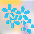 Blue Floral Concept, Vector Art