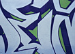 Blue Graffiti stock photo