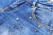 Blue Jeans Closeup Picture.