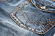 Blue Jeans Pocket Closeup Picture. stock image