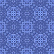 Blue Ornamental Seamless Line Pattern. Endless Texture. Oriental Geometric Ornament
