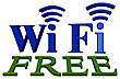 Blue Sign Of A Free Zone Of A Wireless Communication